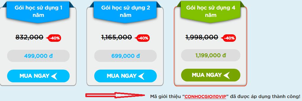 Hướng dẫn nhập mã giảm giá ứng dụng Monkey junior